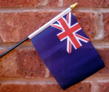 HAND WAVING FLAG (SMALL) - British Blue Ensign